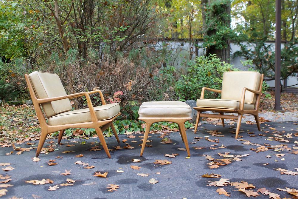 Carlo di Carli Lounge chair and ottoman