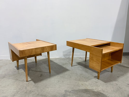 Mid century modern Book shelf end tables by Glenn of California