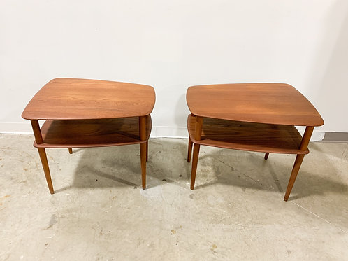 Peter Hvidt Teak Side Table pair