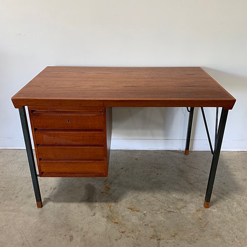 Rare Peter Hvidt Teak and metal desk