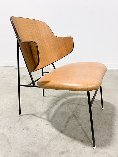 Kofod Larsen Penguin Chair with Leather Seat