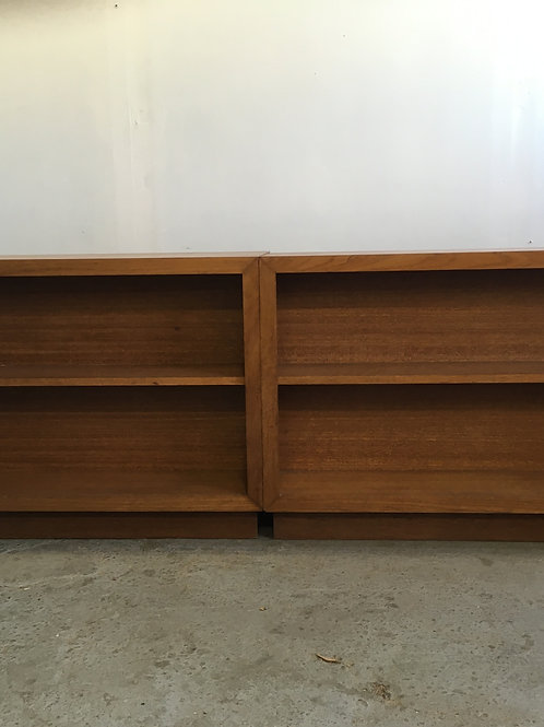 vintage double sided bookshelf
