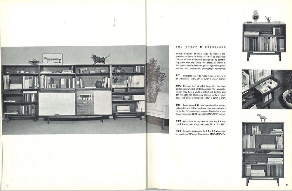 vintage Risom entertainment unit