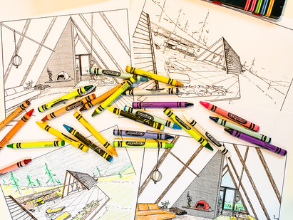 Color Your Own A-Frame Holiday Fun!