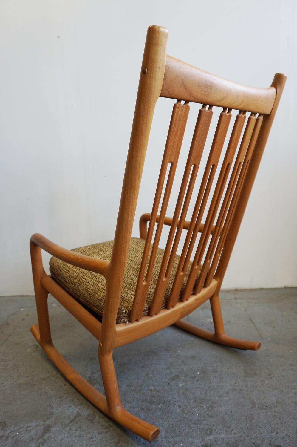 timeless design c8188 31437 Danish Modern rocking chair by Hans Olsen for Juul ...