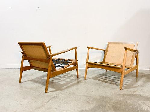 Rare Early Kofod Larsen Lounge chairs