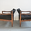 Thumbnail: Pair of Adrian Pearsall armchairs model 834-C