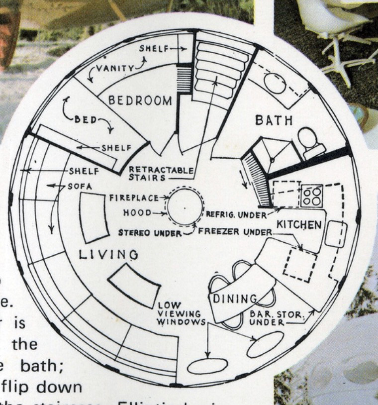 Futuro House floor plans