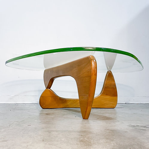 Early Noguchi IN-50 Walnut and Glass table by Herman Miller