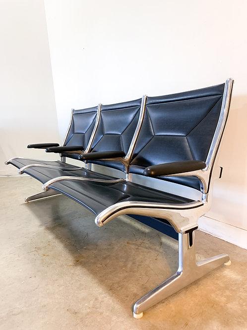 Vintage Eames Tandem Sling Seating by Herman Miller