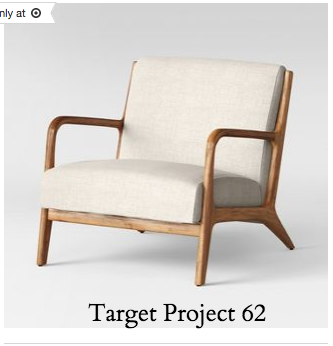 Target chair Esters Wood Arm Chair in Husk