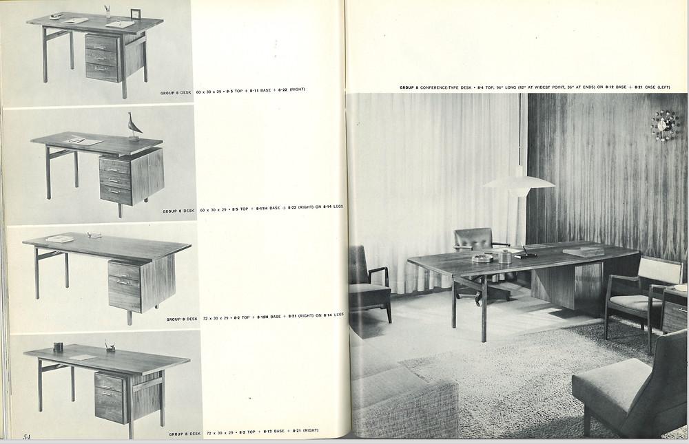 jens risom vintage desk 1959