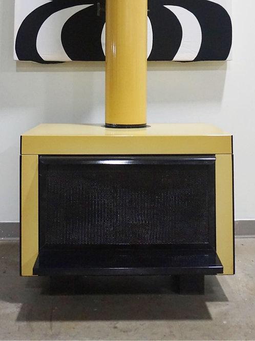 Vintage retro mid century modern fireplace
