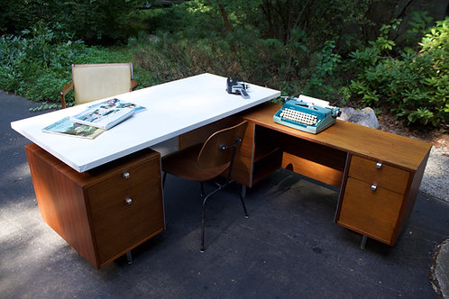 George Nelson Herman Miller Executive Desk and Return