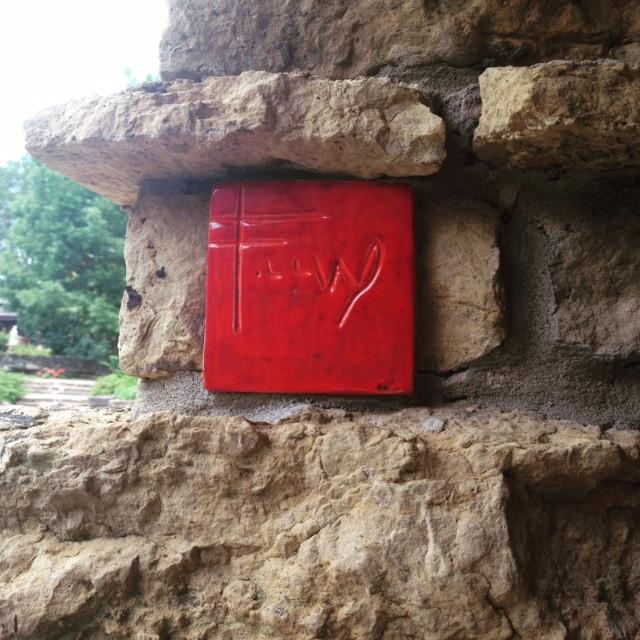 Frank Lloyd Wright red tile FLW Taliesin