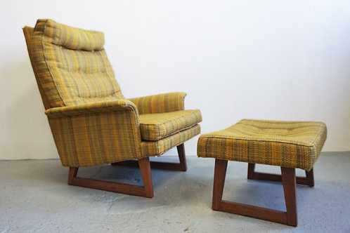 Milo Baughman Chair and Ottoman
