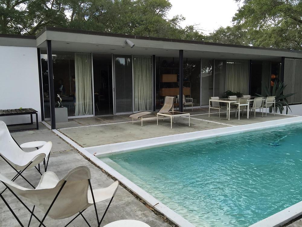 mid-century swimming pool