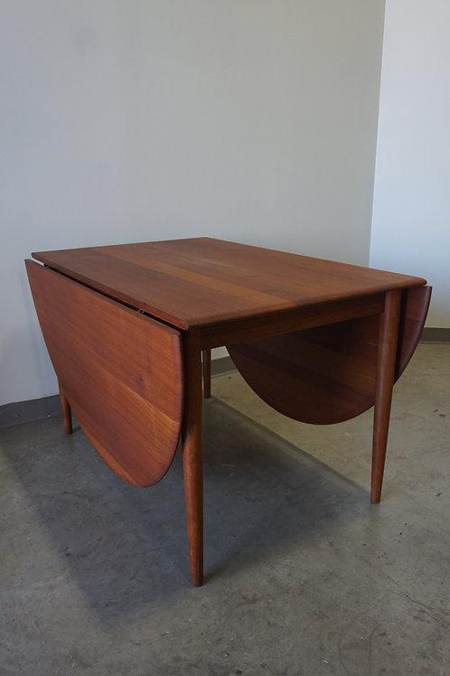 Peter Hvidt Solid Teak Drop Leaf Dining table