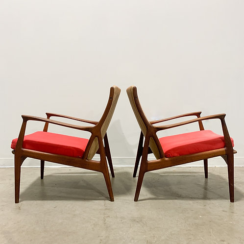 Model 70 teak armchairs by Horsnaes Mobler
