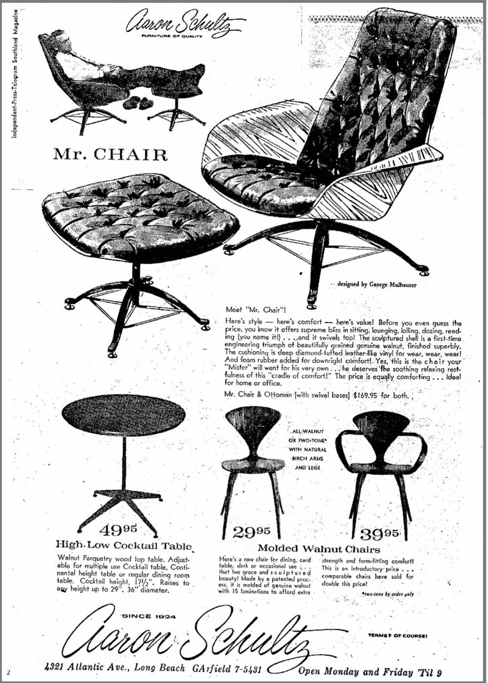 vintage Mr. Chair ad