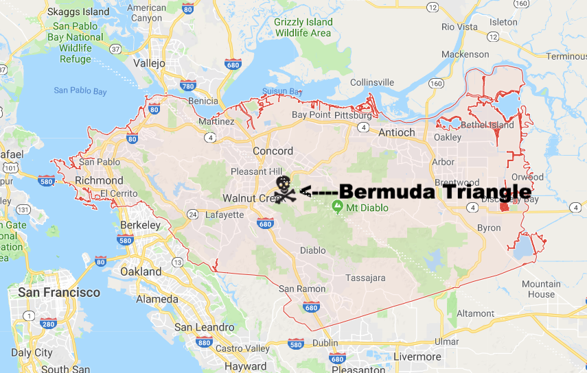 Bermuda Triangle of Contra Costa County