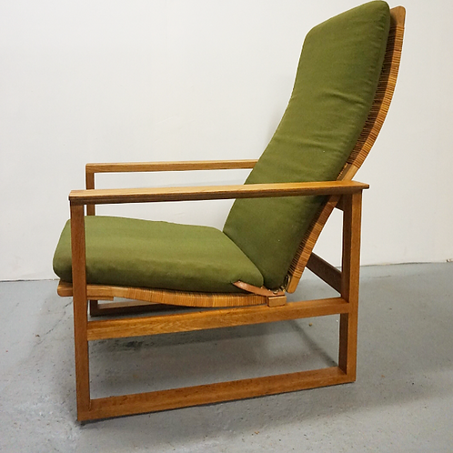 Borge Mogensen Cane and Oak lounge chair