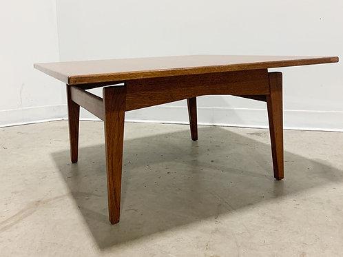 Jens Risom Walnut square coffee table
