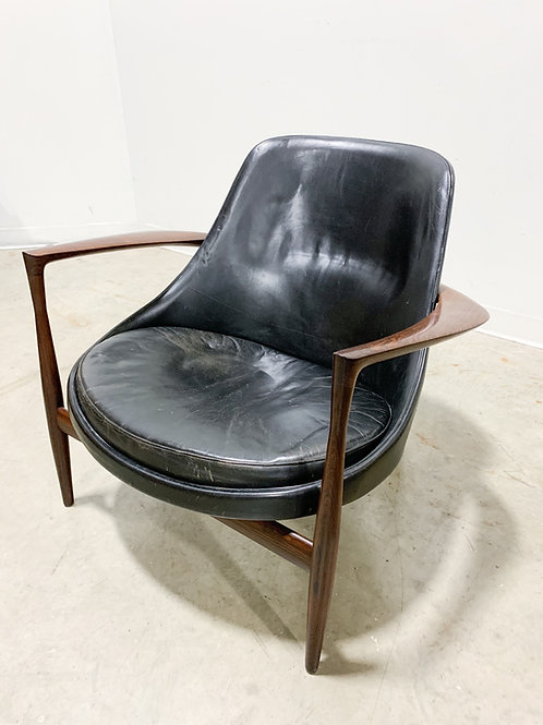Elizabeth Armchair by Kofod Larsen in Rosewood and Leather