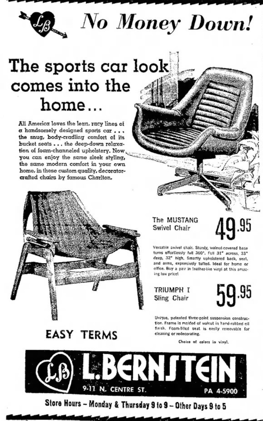 Vintage ad Jerry Johnson Sling Chair