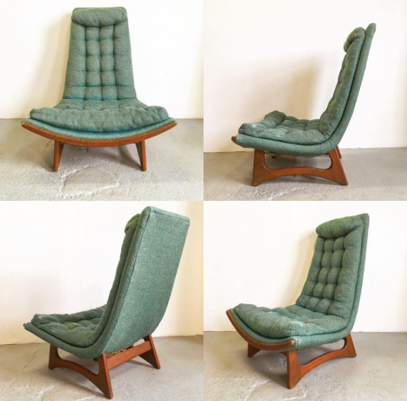 Adrian pearsall style scoop chair