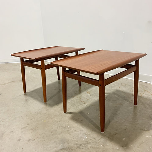 Pair of Teak Grete Jalk side tables