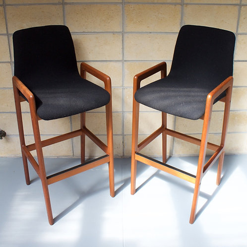 Pair of Danish teak barstools by Tarm Stole OG Mobelfabrik
