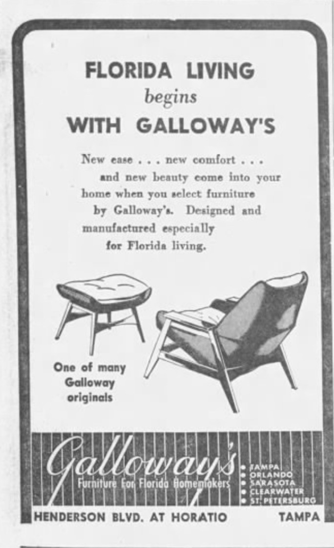 Galloway's Furniture original chair design