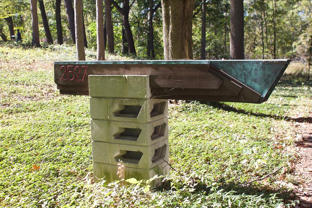 mid century modern mailbox