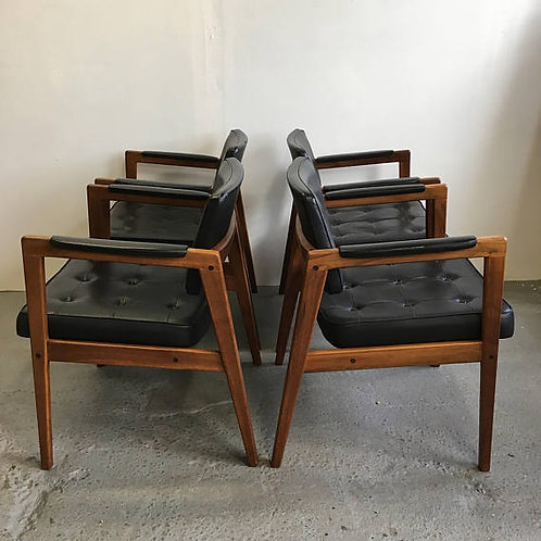 danish chair, svegards markaryd, leather chair