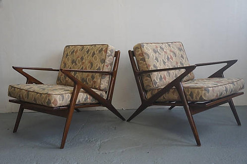 Pair of vintage Z chairs