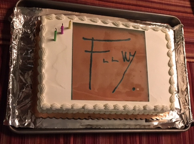 Frank Lloyd Wright Birthday Cake