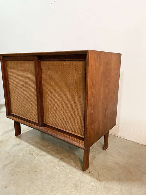 Walnut and Cane cabinet