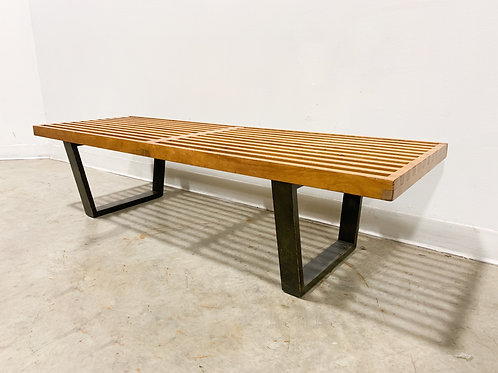 Early George Nelson Slat Bench 48""