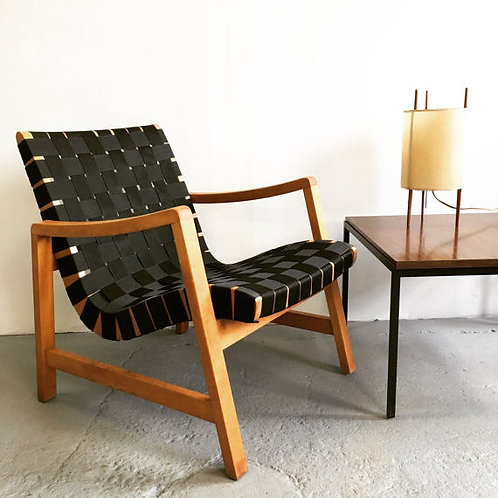 Vintage Jens Risom Knoll Webbed Lounge Chair
