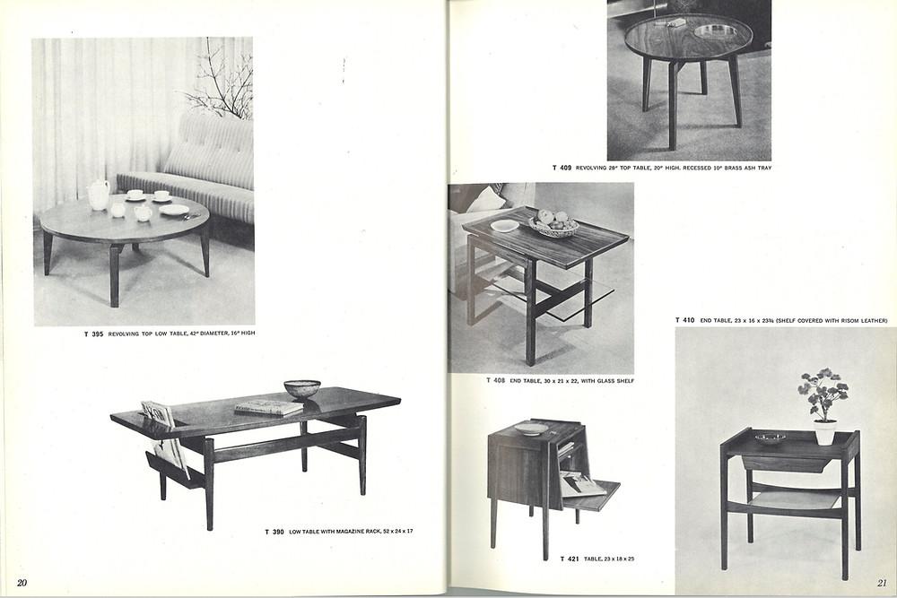Jens Risom vintage coffee table