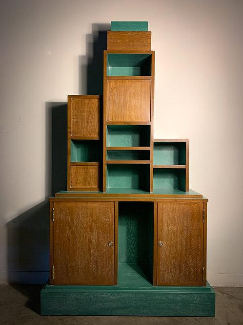 Vintage Paul Frankl Style Skyscraper Bookcase