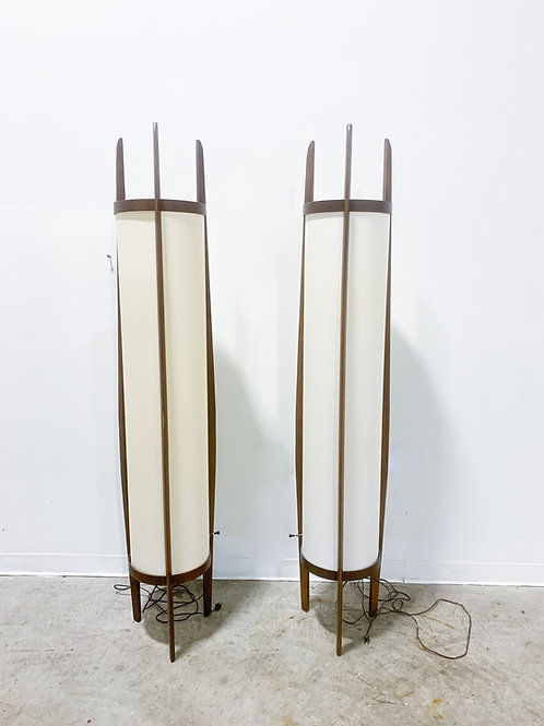 Rare pair of 6 foot tall Modeline Lamps