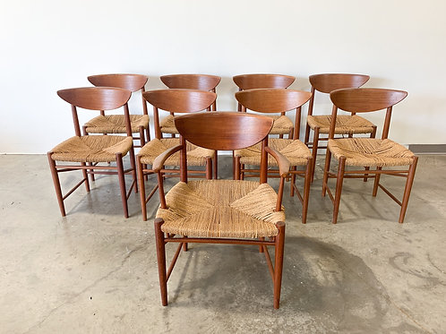 Set of 9 Peter Hvidt dining chairs