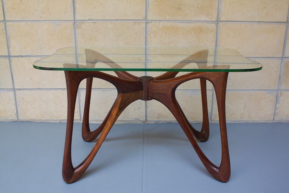 Butterfly table, Adrian Pearsall, Valdimir Kagan, walnut table, MCM table