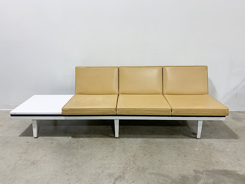 George Nelson Modular Steel Frame Sofa with Table