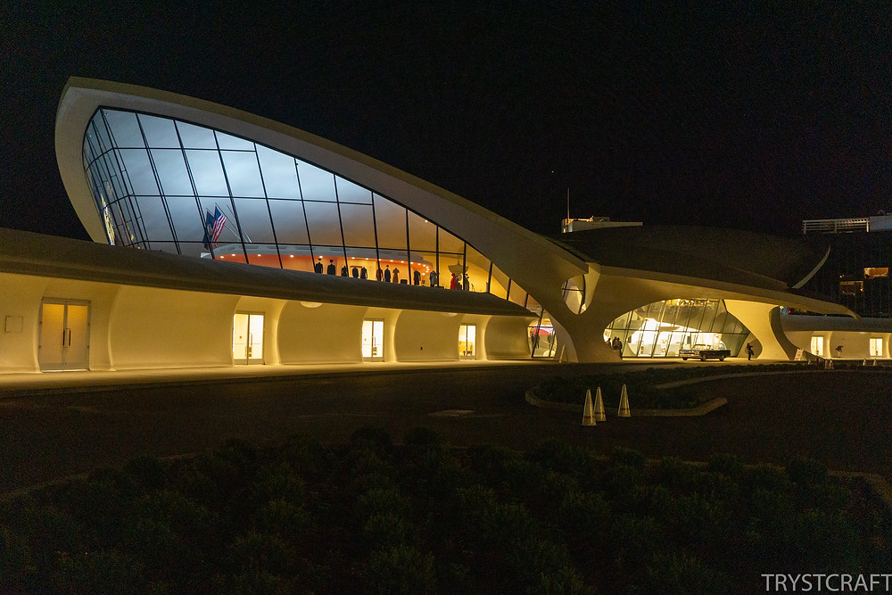 TWA Hotel night view