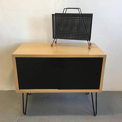 record cabinet, mid century cabinet, vinyl storage