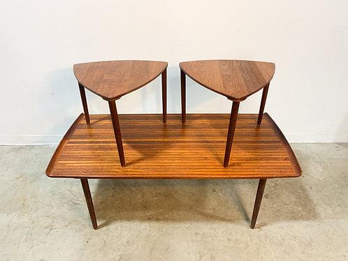 Rare Hvidt Danish Coffee table and satellite table set