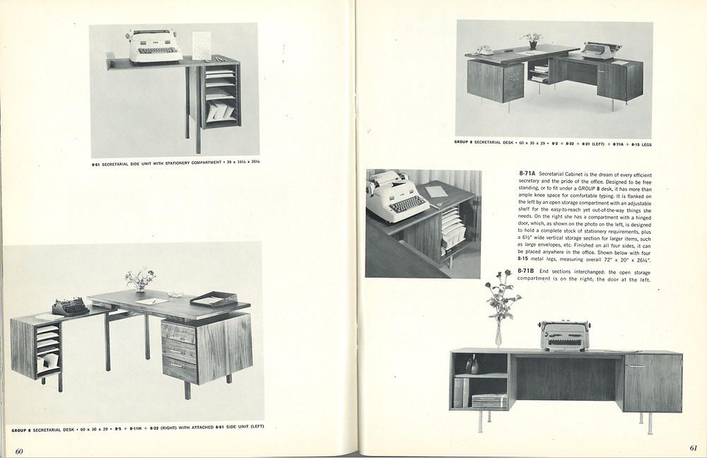 vintage Risom desk